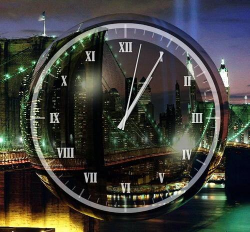 Часы Ночной Нью-Йорк