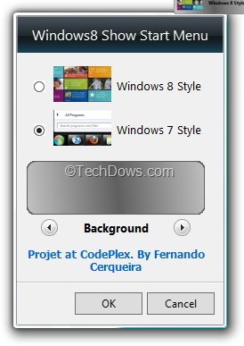 Windows8 Start Menu