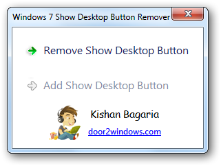 Windows 7 Show Desktop Button Remover