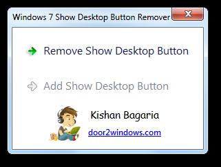 Windows 7 Show Desktop Button Remover