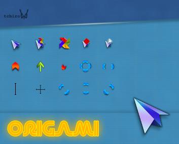 Origami cursors