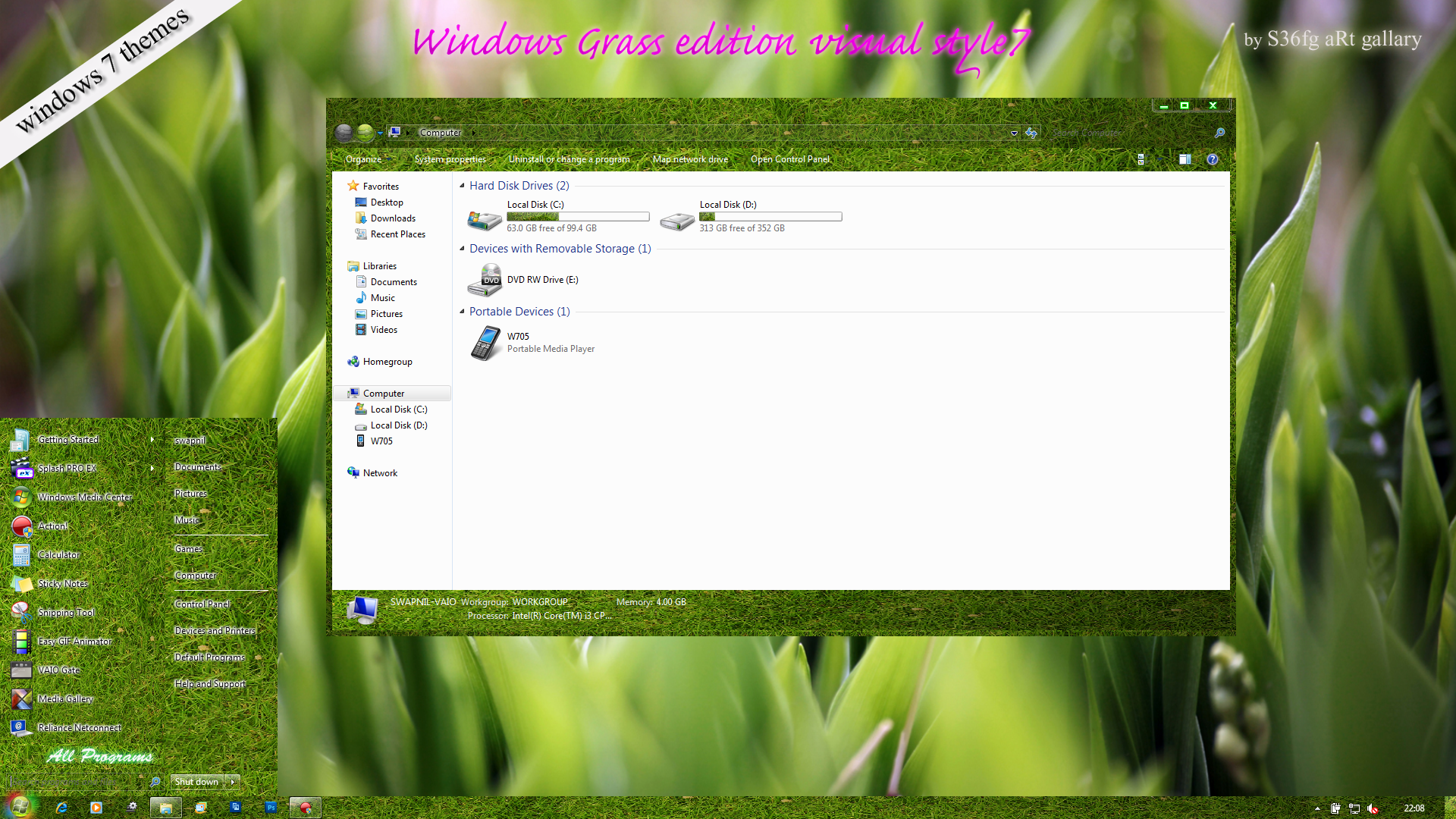 Обои grass, windows. Windows