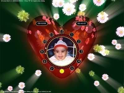 3D Love Clock Screensaver 1.3a