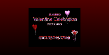 3D Valentine Celebration 3dcursors