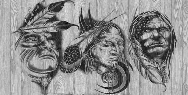 Native American Tattoo-Designs Holz