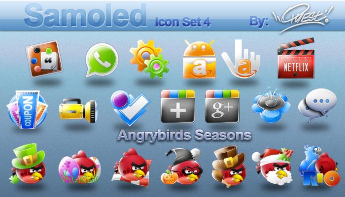 Samoled icon set 4