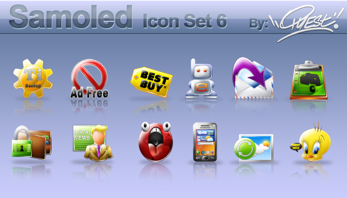 Samoled icon set 6