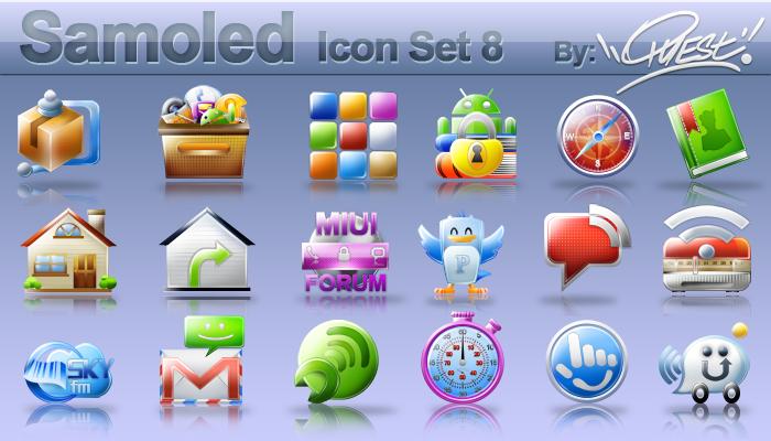 Samoled icon set 8