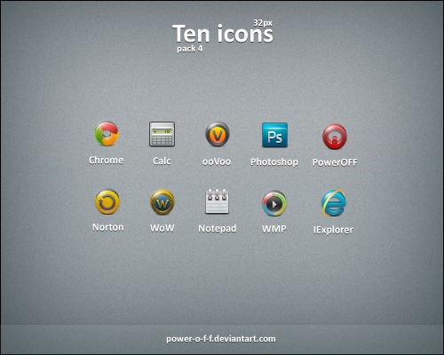 Ten Icons pack 4