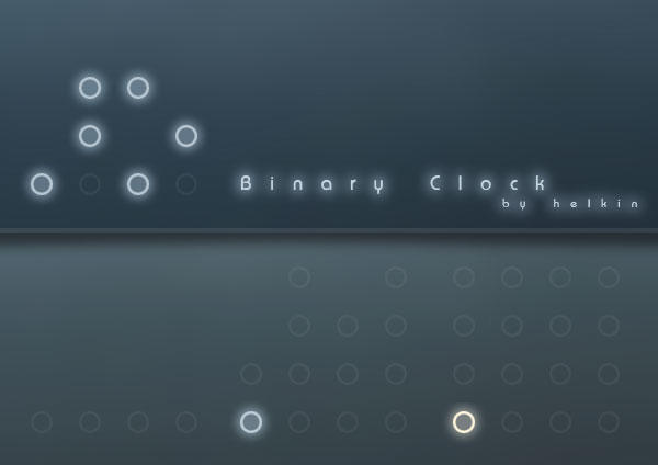 Rainmeter Binary Clock v2