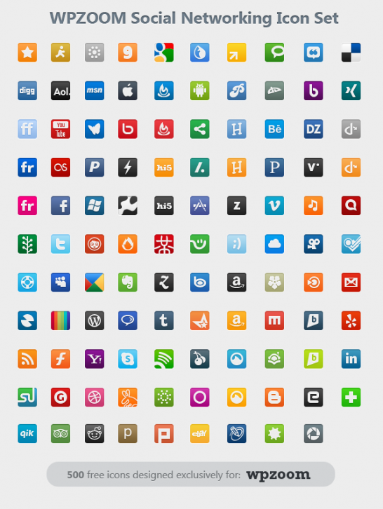 WPZOOM Social Networking Icon Set - Иконки для Windows