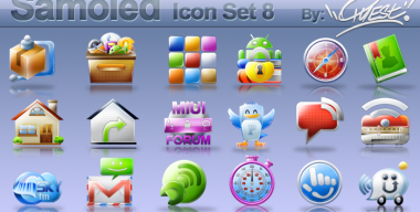 Samoled icon set 8