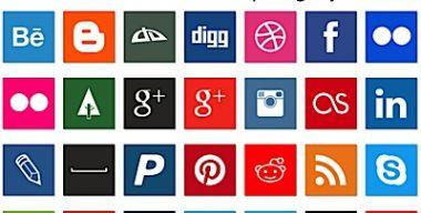 Square Social Media Icons by AKumar