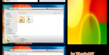 Aero Metallic Orange for Windows 7