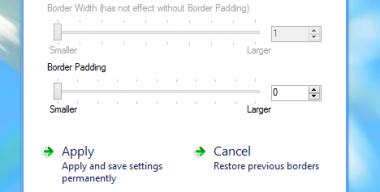 Tiny Windows Borders for Windows 8