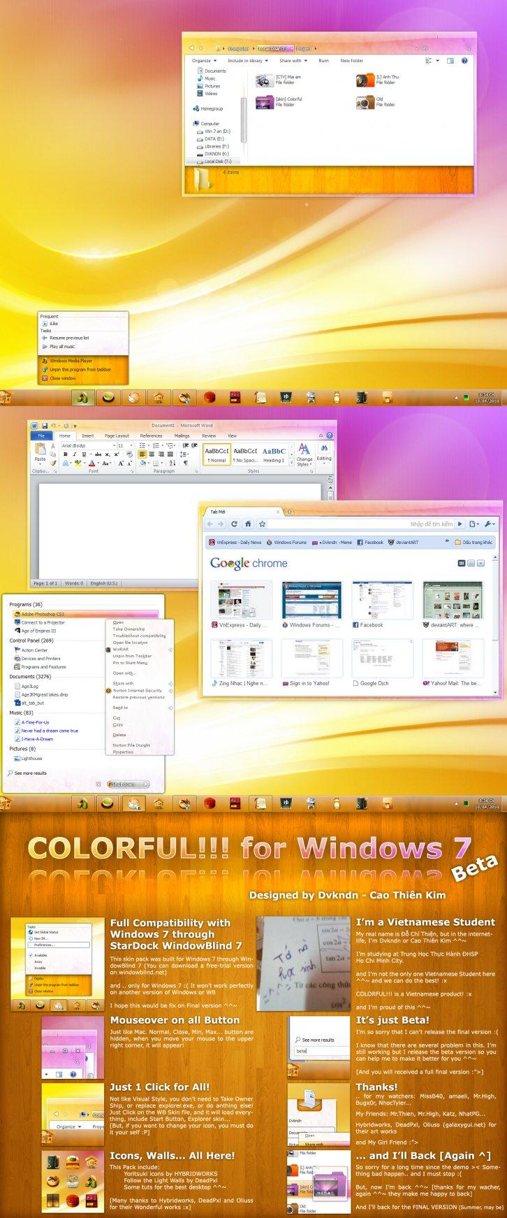 COLORFUL for Win7 beta2