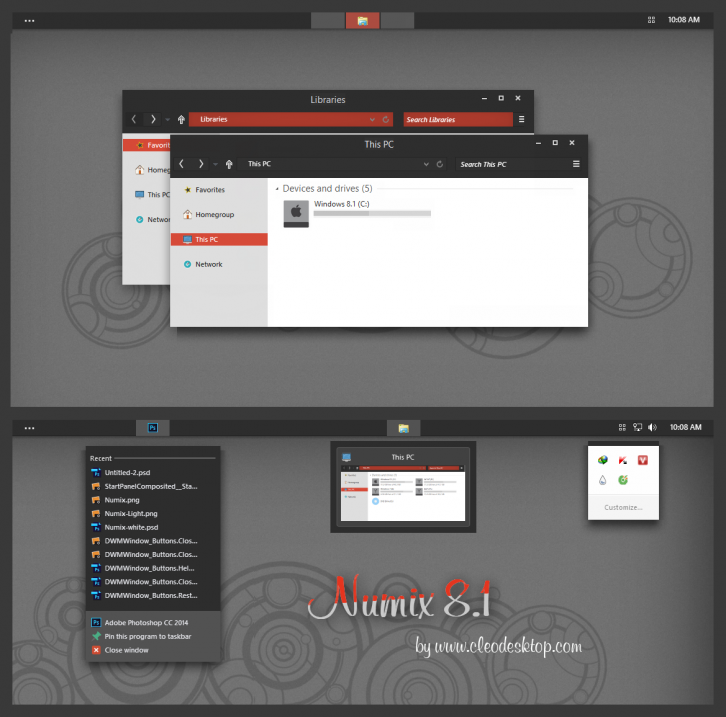 Numix Theme Windows 8.1 (Updated)