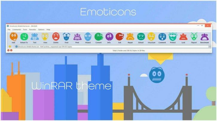 Emoticons WinRAR theme