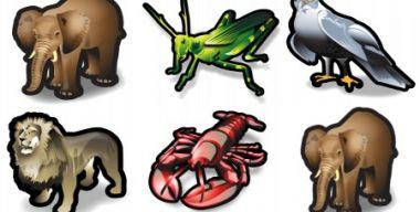 Stroke Animals Icons