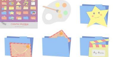 Colorful Morning Icons