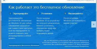 Первые впечатления от Windows 10