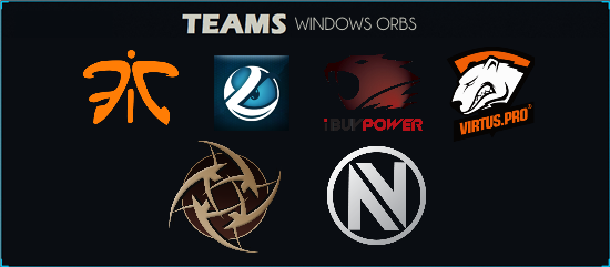 eSport Teams Windows Start Menu Orbs