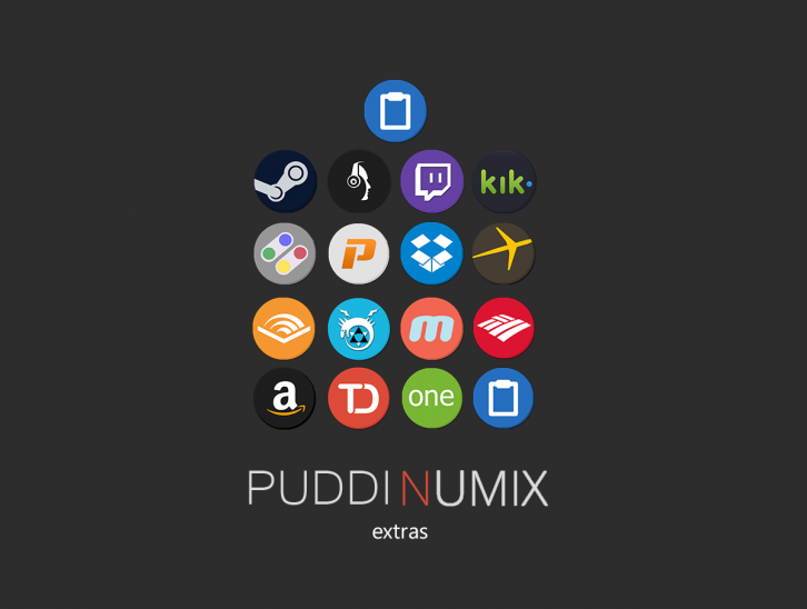puddinumix extra icons - Иконки IconPackager