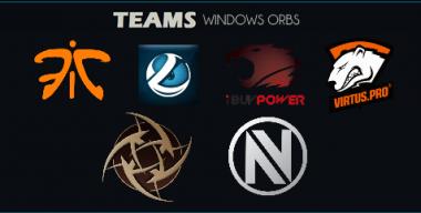 eSport Teams Windows Start Menu Orbs