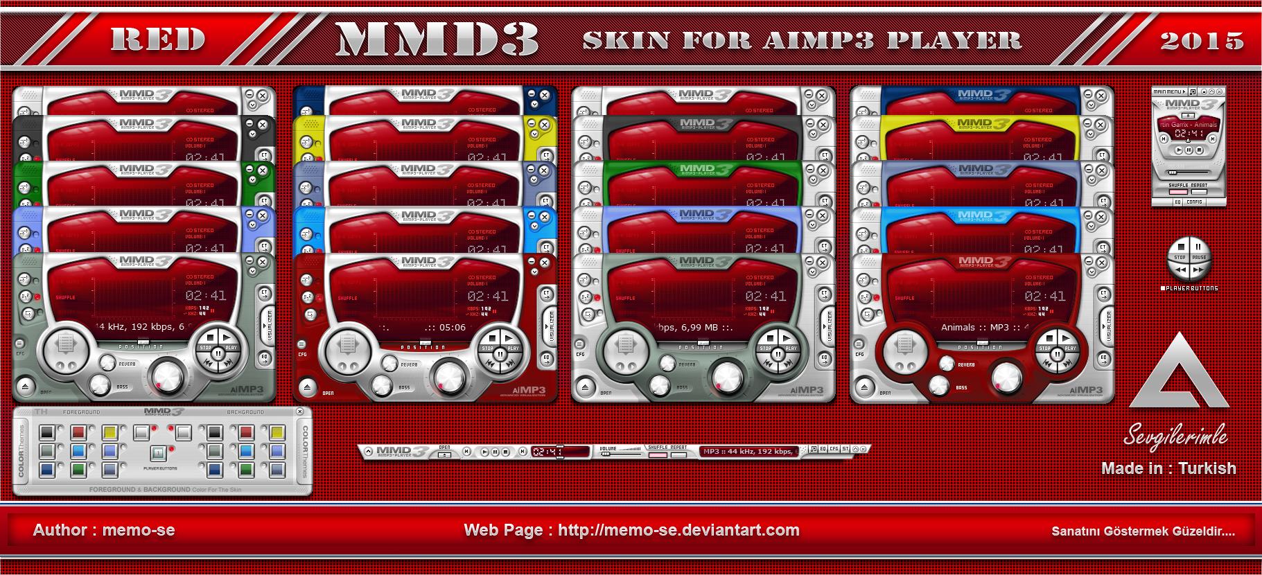 download skin aimp3 black red v. 1