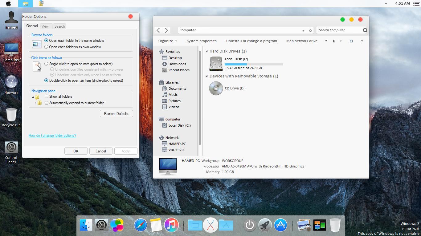 Mac os оформление для windows 7