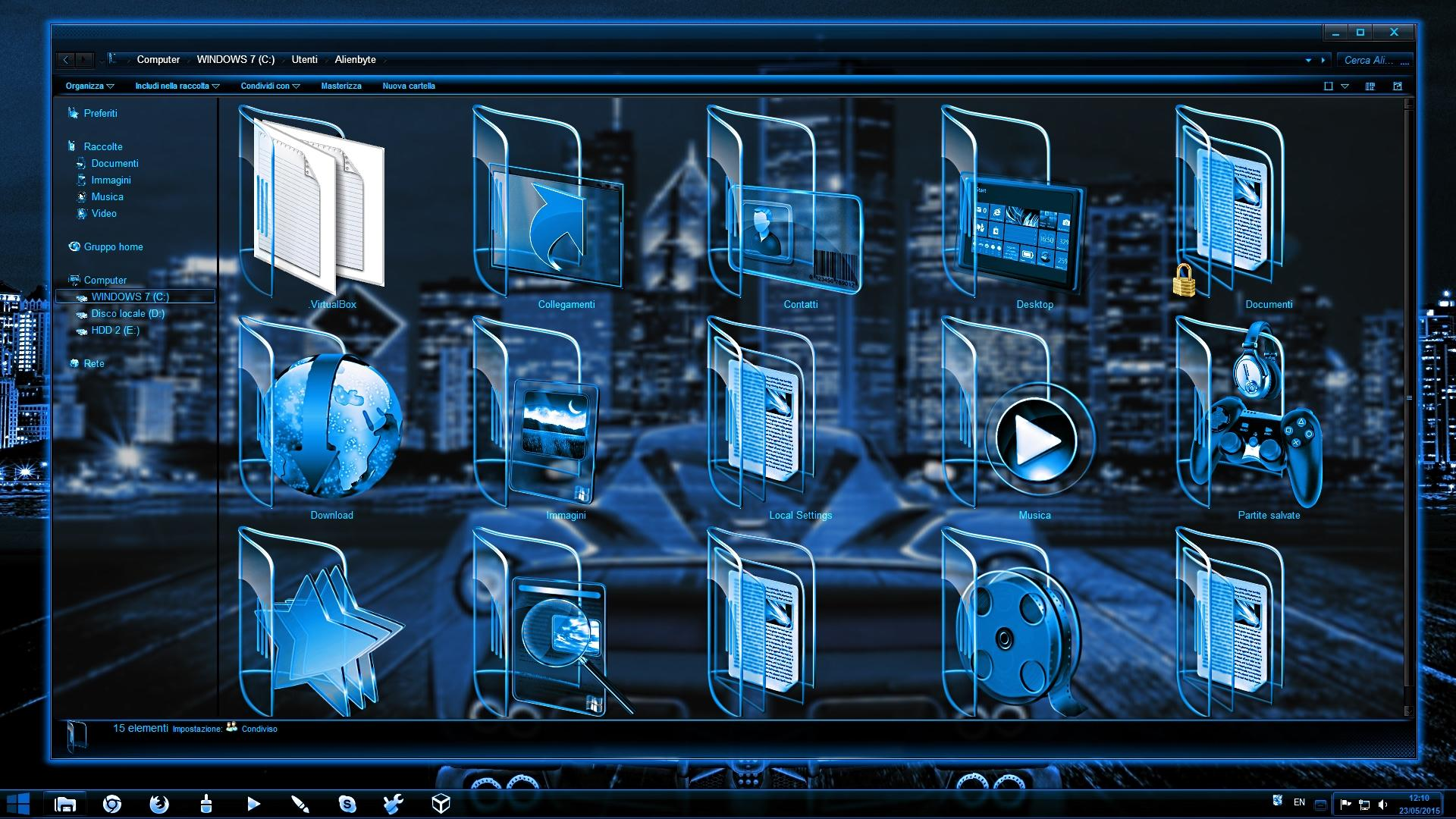цветовая схема windows 7