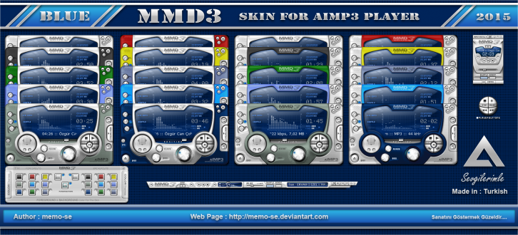 MMD3 Blue Skin For Aimp3 Player