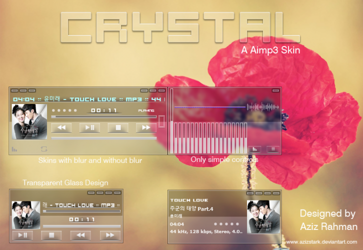 Crystal,The Aimp3 Skin!