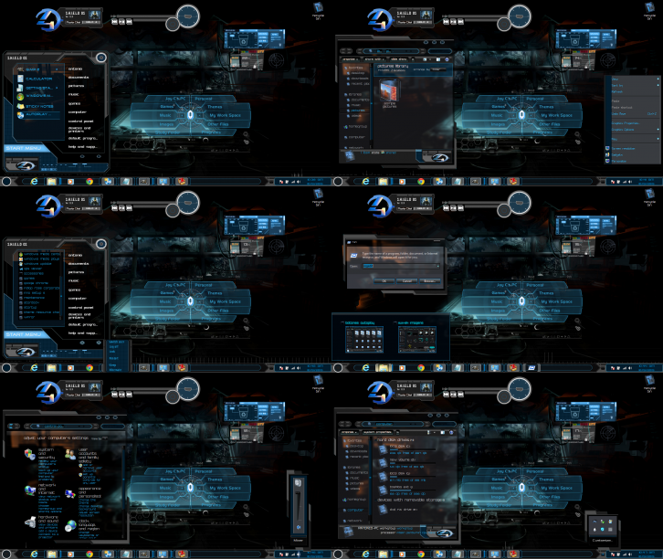 Windows 7 Themes Dark Shields