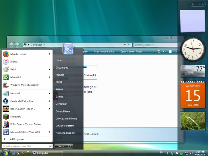 Windows Vista Aero for Windows 7