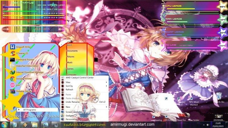 Alice Margatroid Theme + RainMeter Skin