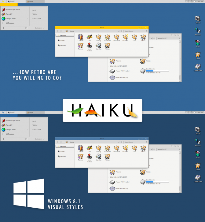 Haiku OS Windows 8.1