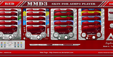 MMD3 Red Skin For Aimp3 Player