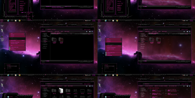 Windows 7 Theme Pink Dark