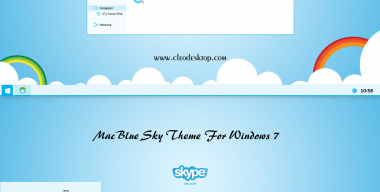 Mac Blue Sky Theme Windows 7