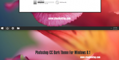 Photoshop CC Dark Theme Windows 8.1