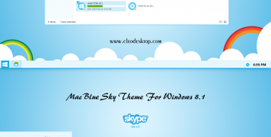 Mac Blue Sky Theme Windows 8.1