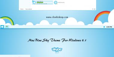 Mac Blue Sky Theme Windows 8.1