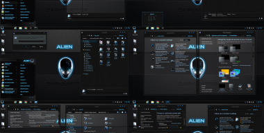 Windows 8.1 theme alien Darkmatter (glass, dark)