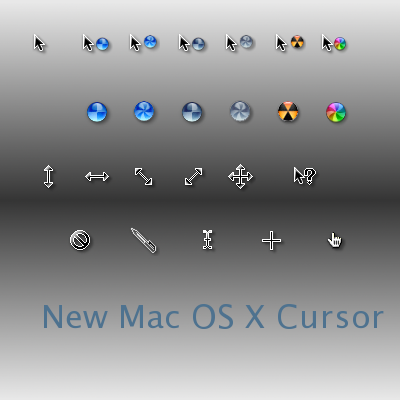 New Mac OS X Cursor - Курсоры для Windows