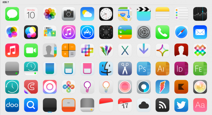 iOS 7 Icons - Иконки для Windows