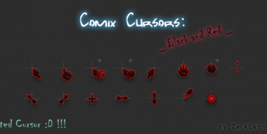 Comix Cursors Black and Red