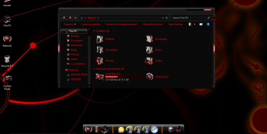 Alienred theme for Win10