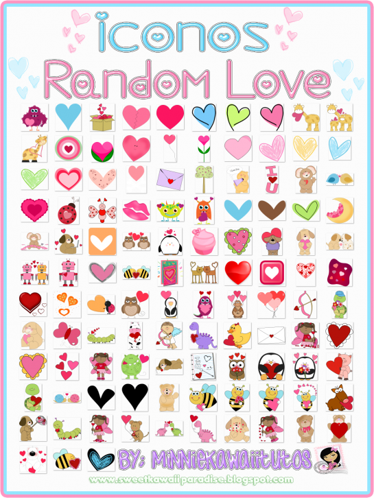 Pack De 113 Iconos Random Love