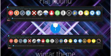Flat Round WinRAR theme